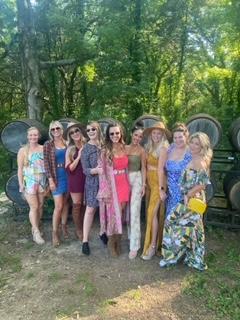 Group of Girls at Arrington Vineyards Nashville