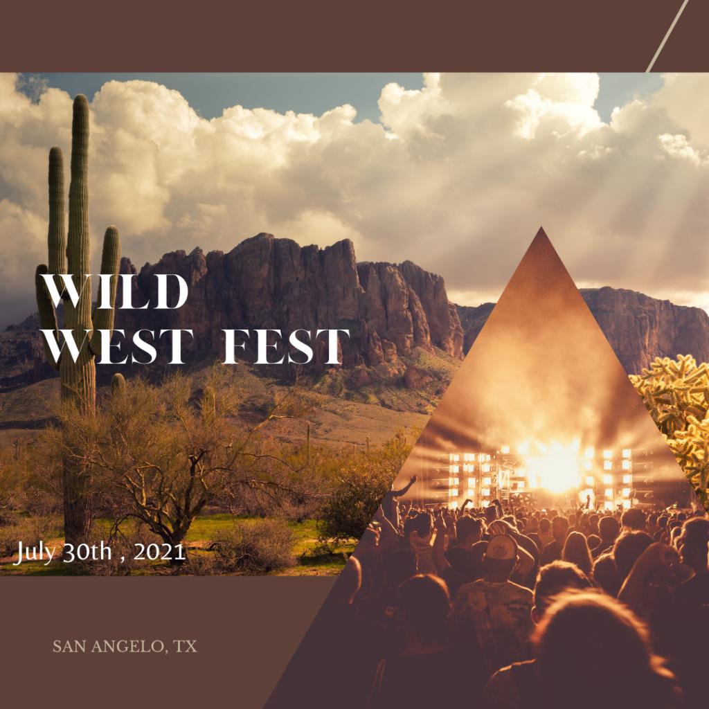 Wild West Fest with dessert backgound